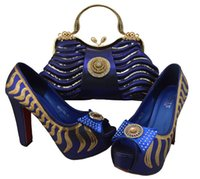 beautiful italian woman - African lady shoes and bag matching set for high quality for Royal blue size L15 Beautiful plum Italian Shoes And Bag