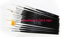 acrylic paint for sale - Hot Sale BLACK Professional Nail Art Acrylic UV Gel Design Brush Set Painting Pen Tips kit For Women Nails Beauty