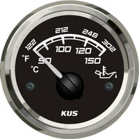 Wholesale 52mm black faceplate Oil temp gauge FPYR with temp sensor for car truck universal marine boat