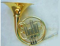 Wholesale new single French Horn outfit Bb key valves gold lacquer case mouthpiece etc