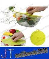 fresh food - Silicone Bowl Lid Sealing Magic Suction Cover Lids Cap Food Safety Dualuse Fresh keeping Crisper Cover MYY14472