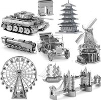 Wholesale 3D Jigsaw puzzle Metal Earth Puzzles for children D Laser Cut Model Factory direct sale Christmas gift