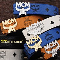 Wholesale Hot Sale Luxury fashion casual MCM men belts High quality brand design MCM alloy buckle genuine leather belt for men and women with box