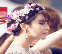 Wholesale 2015 New Style U Shape Hairpin Headwear Headdress Flower The Flower Child Lunlun Bride Hair Accessory