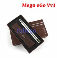 Cheap 1300mah Mega eGo Vv3 vaporizer new patent product eGo V V3 mega variable voltage wattage ego-vv3 battery ego v3 free shipping
