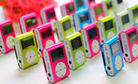Wholesale Price Mini Clip MP3 LCD Screen Clip MP3 Player With TF Card Slot high quality Electronic Products sport Metal mini MP3 DHL Free