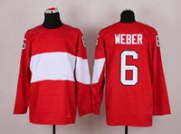 Cheap 2014 Sochi Olympic Game Hockey Jersey #6 Shea Weber Red Hockey Jerseys Brand National Team Jerseys Cheap Mens Ice Hockey Wears Hot Sale