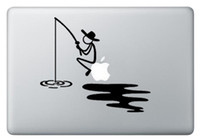 Wholesale Happy Fishing man Creative Notebook Decal Laptop Sticker for Apple Macbook Air Pro Retina quot quot quot quot Cover Skin Art Sticker CHUSE