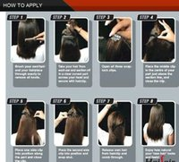 virgin brazilian hair clip in - Clip In Ombre Hair Extensions Clips On Human Hair Full Head A Grade Double Drawn g