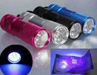 Wholesale 9 LED Mini Torch Mini LED Flashlight LM LED Camping Flashlight Torch Waterproof Flashlights Lamp AA Battery Powered Torches DHL Free