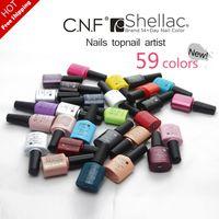 Glitter/Shimmer shellac nail polish - 2014 New CNF Shellac Soak Off UV LED Nail Gel Polish base top free pick color Nail Gel pc