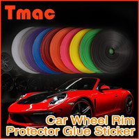 automobile rims - 2015 Direct Selling Limited Automobiles Colors M Fashion Car Styling Diy Rim Stickers Wheel Protector Ring Accessories