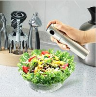 olive oil bottles - Kitchen Stainless Steel Olive Mist Spray Pump Bottle Oil Sprayer Pot Cook Tool