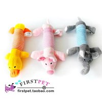 Wholesale Lovely Pet supplies dogs With Sound module Four feet long animals stuffed toys colors random