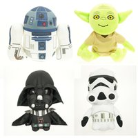 Wholesale 4 styles Star Wars Plush Toy Darth Vader Plush white soldiers Yoda spaceship toys for children