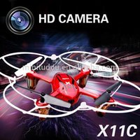 axis outdoor cameras - Hot Sell China RC Quadcopter Outdoor UFO drone Toys SYMA X11C G CH Axis Gyro Frame Dron camera