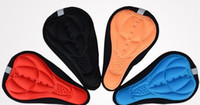 Wholesale 200pcs Colors Bicycle Saddle of Bicycle Parts Cycling Seat Mat Comfortable Cushion Soft Seat Cover For Bike Seat Cushion