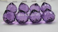 Wholesale 10PCS Mixed Color mm AAA Top Quality ASSORTED Purple K9 Faceted Crystal Balls Crystal Chandelier Ball Prism Pendnat