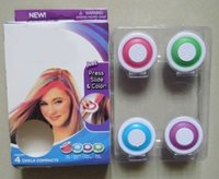 Wholesale 120sets Hair Chalk Hair Dye Tool Set of Hot TEMPORARY HAIR Pink Blue rose red and purple With package