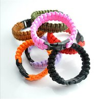 paracord bracelets - 200 colors you pick Self rescue Paracord Parachute Cord Bracelets Survival bracelet Camping Travel Kit new