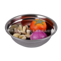 Wholesale mm cm with magnetic stainless steel pots of soup thickened sauce bowl of fruit salad bowl basin
