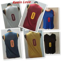 Wholesale Basketball Jersey Kevin Love Kid s Yellow Red Blue White Black Uniforms Cheap Basketball Wears Embroidery Logo Name Allow Mix Orde