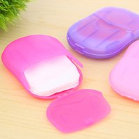 Wholesale Convenient Washing Hand Bath Travel Scented Slice Sheets Foaming Box Paper Soap