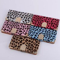 Cheap 2014 Hot!For iPhone 4 4S 5 5S 6 Luxury Diamond Leopard Print Smooth Wallet PU Leather Case Cover With Card Slot for Apple Samsung s5 note3