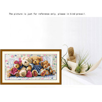 Wholesale Hot Sale DIY Handmade Needlework Cross Stitch Set Precise Printed Bear Family Design Cross Stitching Home Decoration Embroidery
