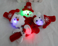 christmas decoration santa claus - Funny Christmas Gift Papa Bracelet Xmas Santa Claus Snowman Toys SlapPat Circle Bracelet Wristhand Christmas Party Decoration PC