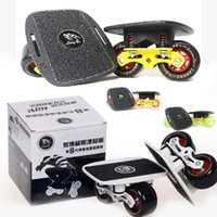 Wholesale Pair Freeline Skates Drift Board Scrub Aluminum Alloy Patines Wakeboard Skateboard Deck Wheels Colors FEDEX