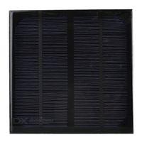 Célula solar del silicio monocristalino 10pcs / lot 3W 6V para el panel solar del mini del cargador de DIY para el sistema solar de la prueba - NEGRO