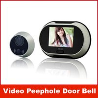 Wholesale 3 quot TFT LCD Pinhole Peephole Digital Door Eye Camera Viewer Doorbell Don t Disturb Function Video Peephole Door Bell