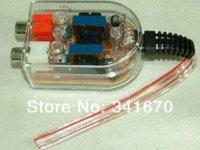 audio line level amplifier - 5pcs Car Speaker to RCA Level Adaptor High to Low Sockets Auto Line Out Converter Audio transverter sound subwoofer amplifier M7638