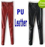 Wholesale Faux Leather Pants Fall Winter Women Pants Fashion PU Thicken Fleece Warm Capris Trousers leather joggers calca feminina