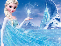 Os mais recentes Congelado Elsa Vestido Atacado para Bebés Meninas Popular Anna princesa vestido longo bonito congelado Máscara