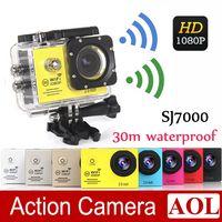 Wholesale SJ7000 Waterproof Sport Action Camera Full HD P WiFi Camera GoPro Style Helmet Camera Car DVR Screen MP CMOS Sports Camcorder