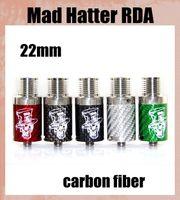 hatter - Mad Hatter RDA Atomizer with Airflow control Vaporizer carbon fiber Drip Tips RDA fit mm Mech mod vs Troll RDA Freakshow RDA atb298