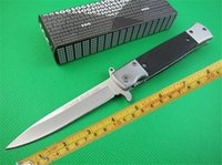 best crafts - SOG KS931A Hot Outdoor Fast Open Camping Survival Folding Knife Best Craft Gift Knives CR13 HRC g sample freeshipping