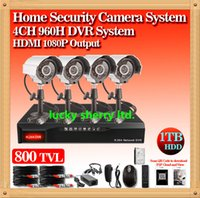Wholesale CIA Home security CCTV System ch Full H Network DVR Recorder tvl IR Outdoor Camera Security System