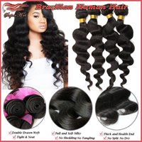 Loose Wave extension natural hair curl - Perfect Wavy Look A Brazilian Virgin Human Hair Extensions Natural Color Big Full Curls Bundles Soft Thick Ends