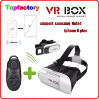 Wholesale New Arrival Virtual Reality D Glasses VR Box with Bluetooth Romote Control HeadMount VR BOX Version price DHL