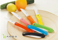 Wholesale High quality home using Ceramic folding knife fruit knife Kitchen Knives Mini folding knife ABS stainless steel antibacterial ceramic