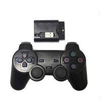 Wholesale New Wireless Shock Game Controller for Sony PS2 PS3 PC wireless controller Ghz Black