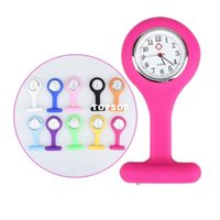 Wholesale Nurse Watch Fob Brooch Tunic Quartz Watch With Silicone Cover Case Pocket Watch
