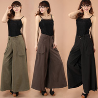 Wholesale A clearance sale Skirt Pants Falda Pantalon Wide Leg Pants EUR EUR Larger Size Thin Women Trousers Cotton