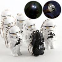 Wholesale Star Wars LED night lamps Darth Vader star war yoda action figure toys Storm Troop Anakin Skywalker figure keychains