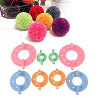 Wholesale 2015 High Quality Useful DIY Tool Sizes Fluff Ball Weaver PomPom Maker Knitting Kit Familily Kid DIY Needle Craft Set