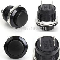 Cheap 5pcs lot Push Button Switch 3A 250V off-(on) 1 Circuit Non-locking Momentary 2 Colors