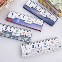 Wholesale Year Creative Starry Sky Elk Desktop Paper Calendar dual Daily Scheduler Table Planner Yearly Agenda Organizer